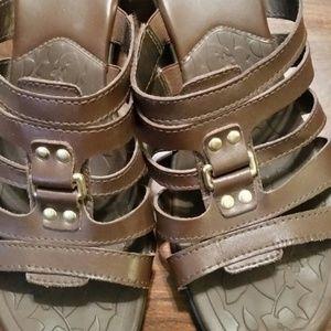 Brown Wedge sandals, SZ 11